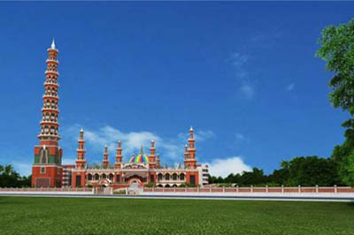 201-Dome-Mosque-Tangail-Bangladesh