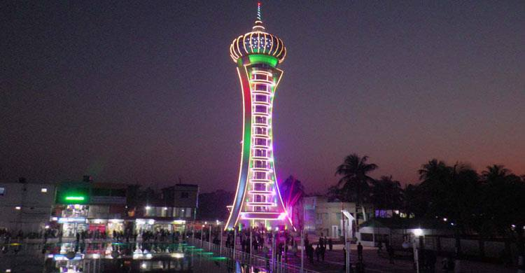 Night view of Jacob Tower