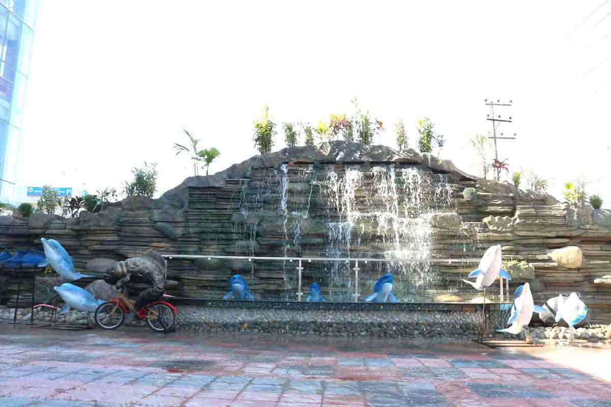 Water Fountains outside of Radiant Fish World - Cox's Bazar